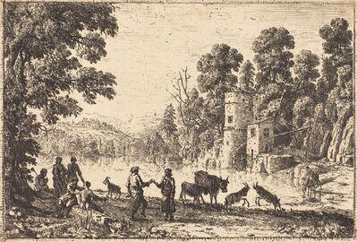 Claude Lorrain, 'The Dance on the River Bank (La danse au bord de l'eau)', ca. 1634