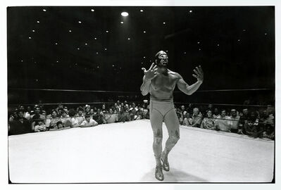 Geoff Winningham, 'Houston Wrestler Mil Mascaras in Defeat (from 'From Friday Night at the Coliseum')', 1971 / 1971c