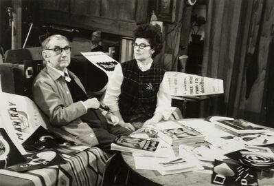 Nelly Kaplan, 'Man Ray et Juliet in the studio, rue Férou', 1965