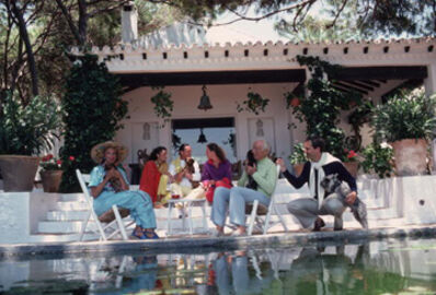 Slim Aarons, 'Rothschild Home, 1980: The Rothschild family round the pool at their home the villa Santa Margarita reputed to be the most beautiful house in Marbella', 1980