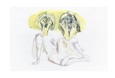 Miguel Calderón, 'Sin título (dos niñas)', 2019