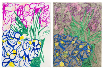 Anthony Campuzano, 'Double Ballibay Flowers No. 2 (Diptych)', 2017