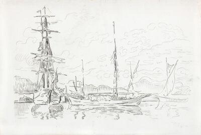 Paul Signac, 'St. Tropez, bateaux au port', ca. 1910