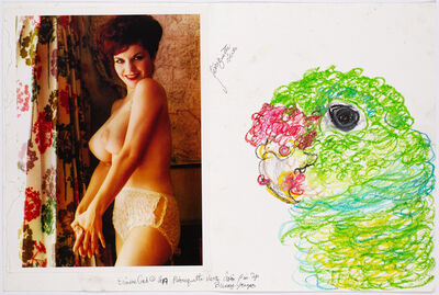 Simone Gad, 'Perroquette Vert Avec Pinup Bunny Yeager', 2019