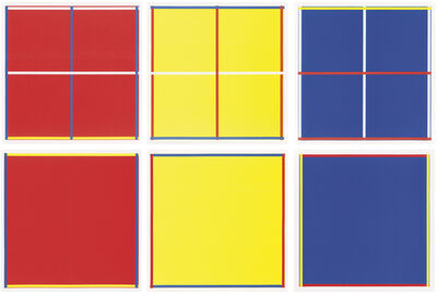 Imi Knoebel, 'Rot, Gelb, Weiß, Blau', 1995