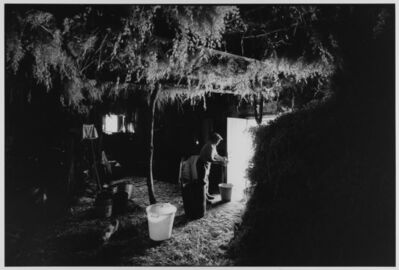 Leonard Freed, 'Shepherd in mountain hut making cheese, Madonie Mountains, Sicily, Italy ', 1974