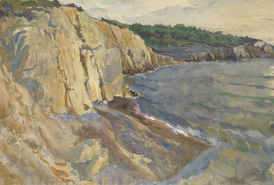Alexander Benois, 'The View of the Cliffs at Sanary', 1927