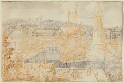 Lieven Cruyl, 'Fantastic View of Naples', ca. 1680s