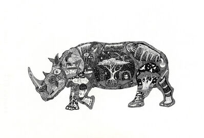 Christo Du Toit, 'Rhino - Limited Edition Print'