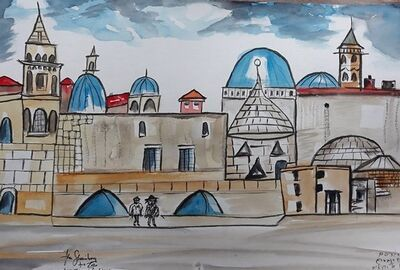 Abe Shainberg, 'Jerusalem Rooftops', 2018