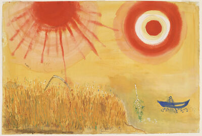 Marc Chagall, 'A Wheatfield on a Summer's Afternoon. Study for backdrop for Scene III of the ballet Aleko', 1942