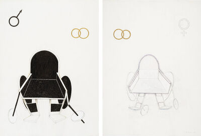 Renate Bertlmann, 'Bridegroom, Bride', 1975