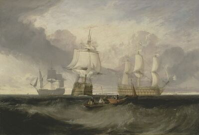 J. M. W. Turner, 'The Victory Returning from Trafalgar, in Three Positions', ca. 1806