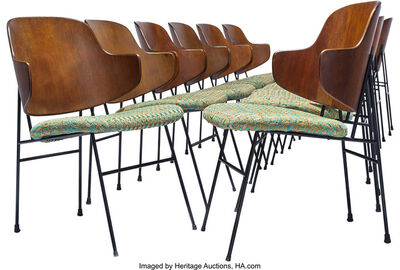 Ib Kofod-Larsen, 'Twelve Penguin Chairs', circa 1955
