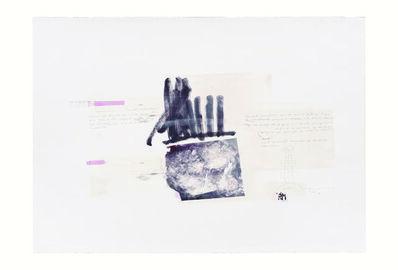 Rebeca Mendoza, 'Serie Cortazar, Monoprint M', 2015