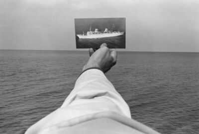 Kenneth Josephson, 'New York State (Postcard of Boat over Water)', 1970-printed 1974