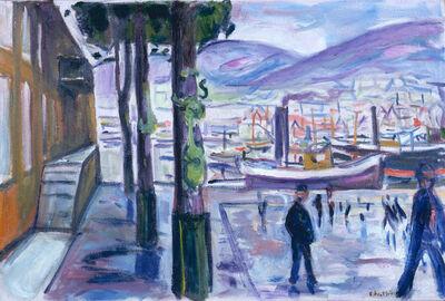 Edvard Munch, 'Der Hafen in Bergen (Bergen Harbour)', 1916