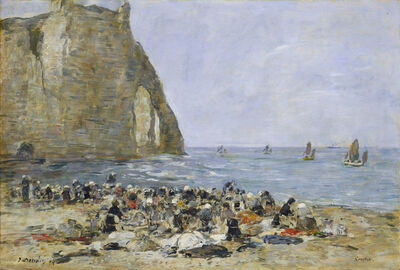 Eugène Boudin, 'Washerwomen on the Beach of Etretat', 1894