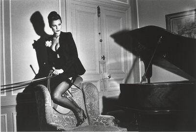Helmut Newton, 'Saddle II, Paris (Signed)', 1976