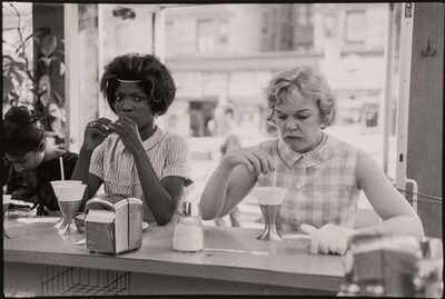 Bruce Davidson, '[Time of Change series (Two Women at Lunch Counter)]', 1962