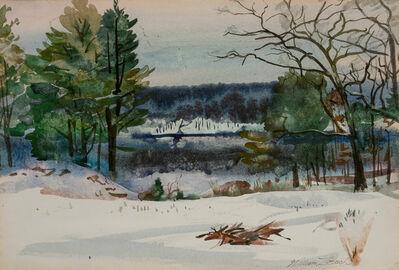 William Zorach, 'Snowy Landscape'