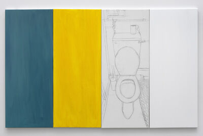 Juliette Blightman, 'Turquoise, Yellow, Nicole, White', 2020
