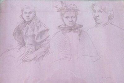 William Bailey, 'Untitled, Three Women', 1961