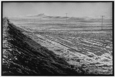 Leonard Freed, 'Telephone poles and light snow Turkey', 1976