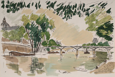 André Dunoyer de Segonzac, 'View of the Pont des Arts, Regards sur Paris', 1960