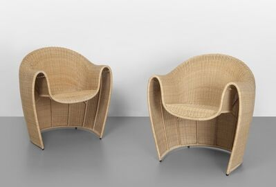 Platt & Young, 'A pair of 'King tubby' armchairs', 1998