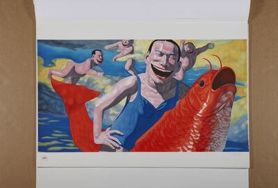 Yue Minjun, 'Floating Clouds', 2009