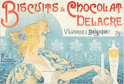 Privat Livemont, 'Biscuits & Chocolat Delacre.', 1896