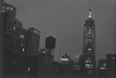 Ilse Bing, 'Empire State Building at Night, New York', 1936