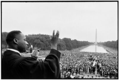 Bob Henriques, 'Martin Luther King speaking to the crowds.', 1957