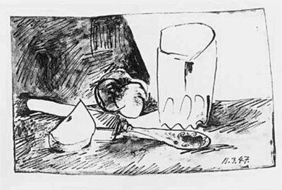 Pablo Picasso, 'Pommes, Verre et Couteau', 1947