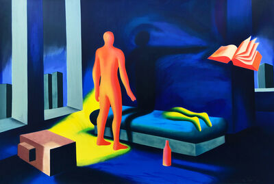 Mark Kostabi, 'ILLUMINATED BY TWILIGHT', 1991