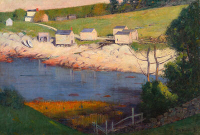 Theodore Wendel, 'Fishermen's Houses along a Cove, Gloucester', 1916
