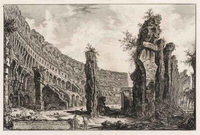 Giovanni Battista Piranesi, 'VEDUTA DELL INTERNO DELL'ANFITEATRO FLAVIO DETTO IL COLOSSEO (H. 78)', 1766