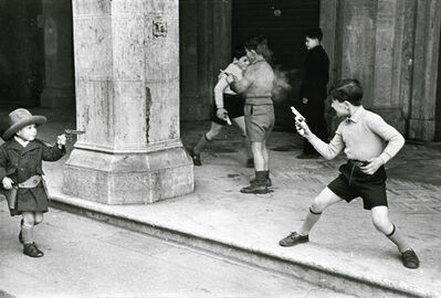 Henri Cartier-Bresson, 'Rome, Italy (Children Playing Cowboys with Guns)', 1951