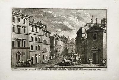 Giuseppe Vasi, 'Chiesa e Monastero dello Spirito Santo,...Chiesa di San Lorenzo ai Monti Plate 142 from Delle Magnificienze di Roma Antica e Moderna', 1747-1761