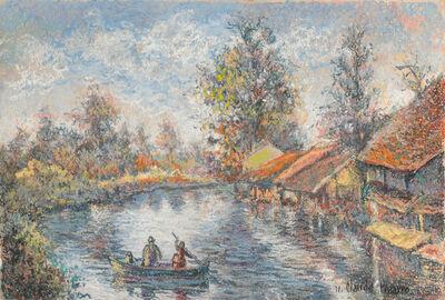 Hugues Claude Pissarro, 'La Barque du Passeur à Pagny', 21st Century