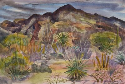 William Zorach, 'View of the Desert - Tucson', 1964