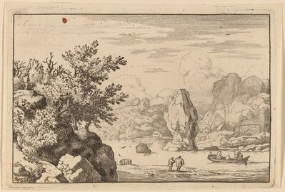 Allart van Everdingen, 'Rock in the Middle of a River', probably c. 1645/1656