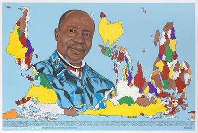 Chéri Samba, 'La vraie carte du monde (N°1)', 2011