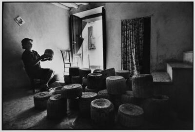 Leonard Freed, 'Woman sells cheese from her home,  Castelbuono, Sicily, Italy', 1974