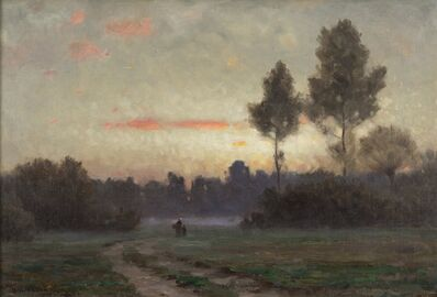 Dwight William Tryon, 'Twilight at Auvers', 1878