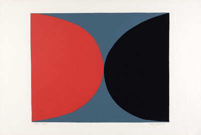 Sir Terry Frost, 'Red And Black On Grey (K. 45)', 1968
