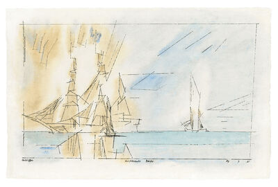 Lyonel Feininger, 'Ausfahrende Barke', 1931