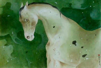 "Mintu Naiya, 'Horse, Mixed Media on Paper by Contemporary Artist ""In Stock""', 2010-2019"