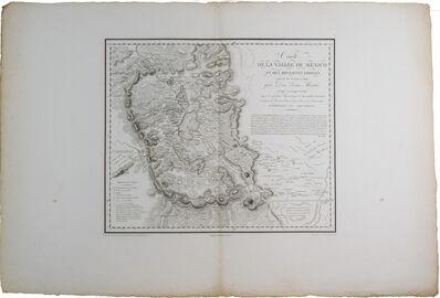 Alexander von Humboldt, 'Carte de la Vallée de Mexico', 1808